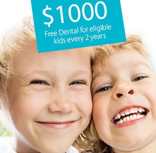 Children smiling at the dentist in Toowoomba